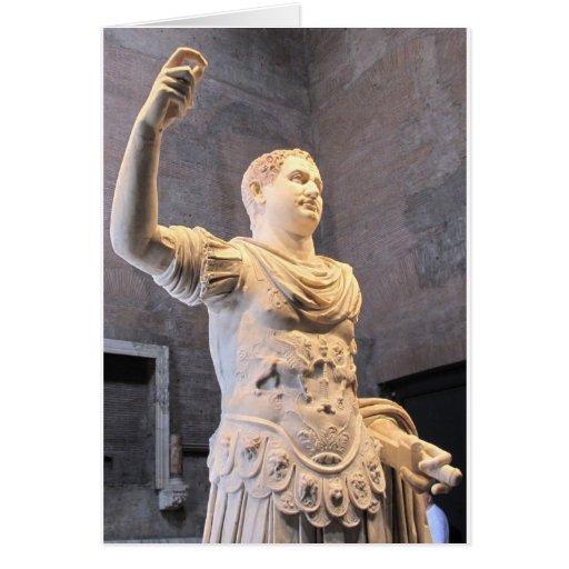 Titus Flavius Vespasianus Roman Emperor Greeting Card