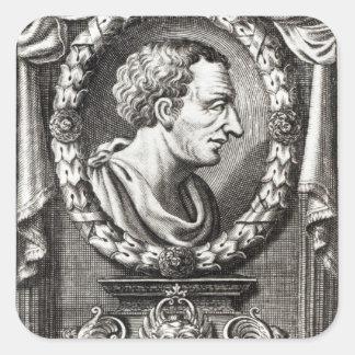 Titus Livius conocido como Livy Pegatina Cuadrada