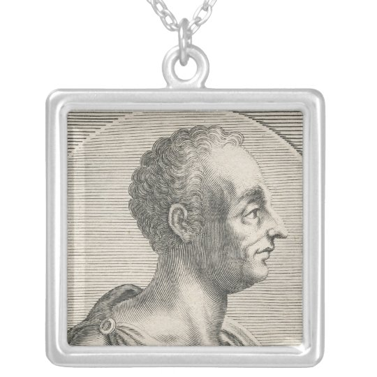 Titus Livius Silver Plated Necklace
