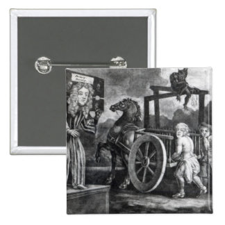 Titus Oates on the third day of his punishment Pinback Button