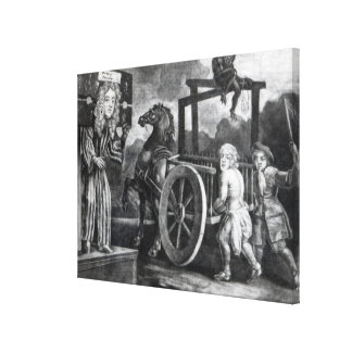 Titus Oates on the third day of his punishment Stretched Canvas Print