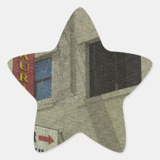 Titusville céntrico pegatina en forma de estrella