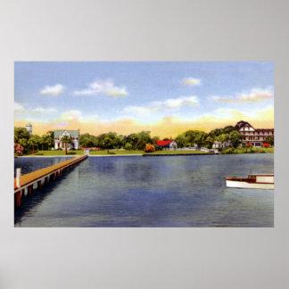 Titusville Florida Indian River Scene Poster