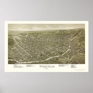 Titusville, PA Panoramic Map - 1895 Poster