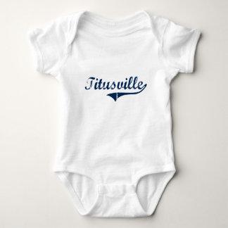 Titusville Pennsylvania Classic Design Baby Bodysuit