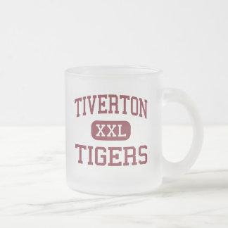 Tiverton - Tigers - High - Tiverton Rhode Island 10 Oz Frosted Glass Coffee Mug