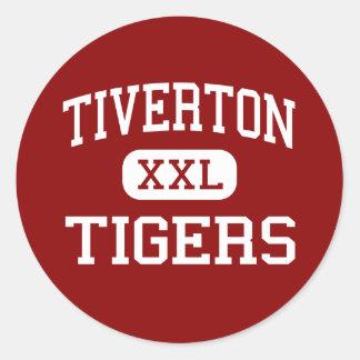 Tiverton - Tigers - High - Tiverton Rhode Island Classic Round Sticker