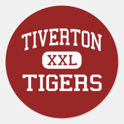 Tiverton - Tigers - High - Tiverton Rhode Island Round Stickers