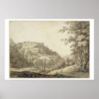 Tivoli c 1768 w c y pluma y tinta gris sobre gra impresiones