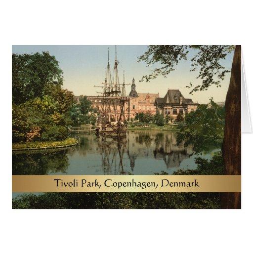 Tivoli Park, Copenhagen, Denmark Greeting Card