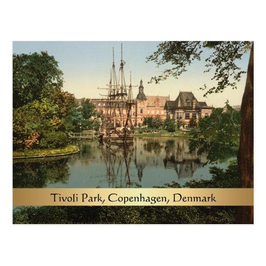Tivoli Park, Copenhagen, Denmark Postcard