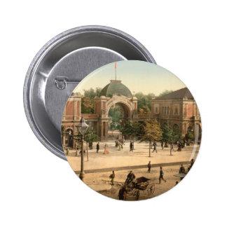Tivoli Park Entrance Copenhagen Denmark Pinback Button