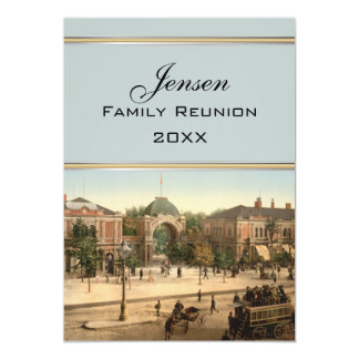 Tivoli Park Entrance Copenhagen Family Reunion Card