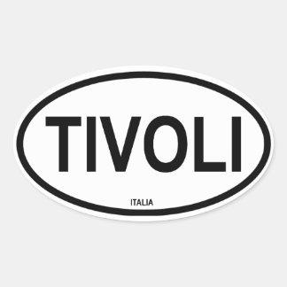 TIVOLI CALCOMANIA OVAL PERSONALIZADAS
