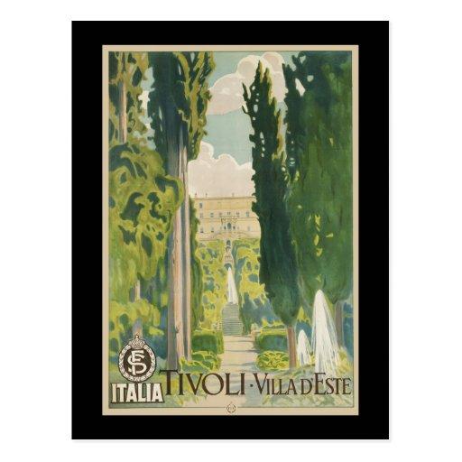 Tivoli Villa d'Este Postcard