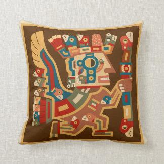 Tiwanaku Sun Warrior Throw Pillow