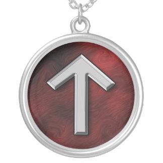 Tiwaz Round Pendant Necklace