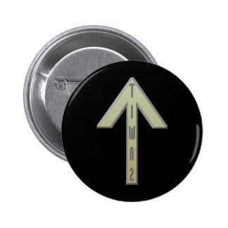 Tiwaz Rune gold Pinback Button