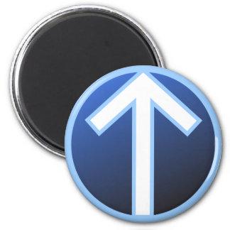 Tiwaz Teiwaz Tyr Warrior Rune 2 Inch Round Magnet