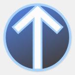Tiwaz Teiwaz Tyr Warrior Rune Classic Round Sticker