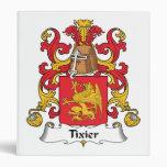 Tixier Family Crest 3 Ring Binder