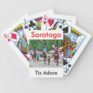 Tiz Adore and Que Chulo in the Saratoga Paddock Bicycle Playing Cards