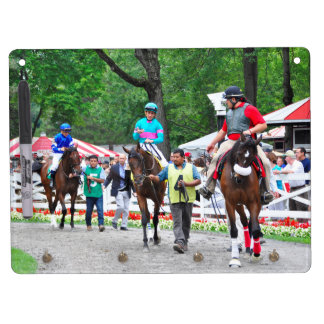 Tiz Adore and Que Chulo in the Saratoga Paddock Dry Erase Board With Keychain Holder