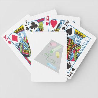 Tiza de la acera baraja de cartas