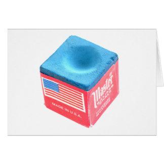 Tiza de la piscina del billar tarjeta de felicitación