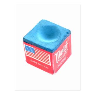Tiza de la piscina del billar tarjeta postal