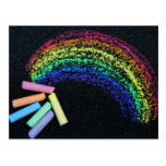 Tiza del arco iris tarjeta postal