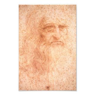 Tiza del rojo del autorretrato de Leonardo da Fotografía