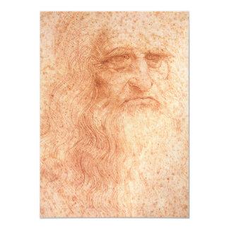 Tiza del rojo del autorretrato de Leonardo da