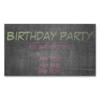 Tiza verde y azul - la 3ro fiesta de cumpleaños