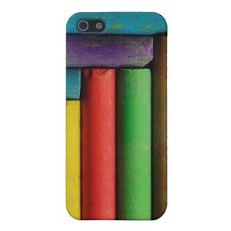 Tizas coloridas iPhone 5 carcasas