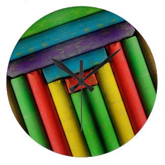 Tizas de color relojes de pared