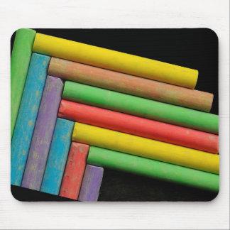 Tizas de color tapete de ratón