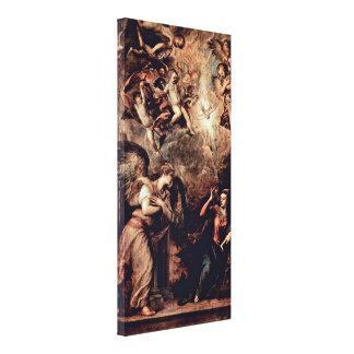 Tiziano Vecelli - Annunciation Gallery Wrap Canvas