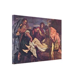 Tiziano Vecelli - Entombment Stretched Canvas Prints