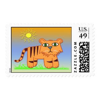 TJ el franqueo lindo del tigre Sellos Postales