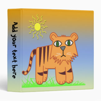 "TJ the Tiger  1.5"" Kids Binder"