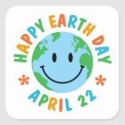 TJED Happy Earth Day Cute Square Sticker