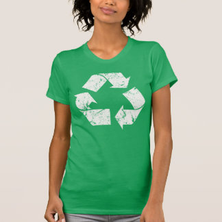 TJED Vintage White Recycle Sign Dark T-Shirt