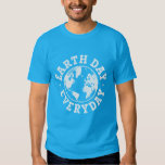 TJED White Globe Vintage Earth Day Everyday TShirt
