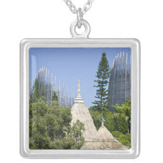 Tjibaou Cultural Centre, Noumea, New Caledonia 2 Silver Plated Necklace