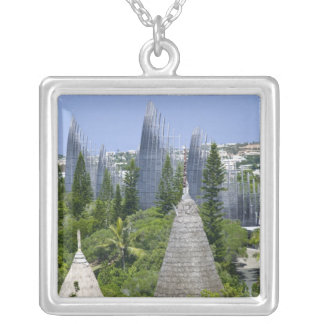 Tjibaou Cultural Centre, Noumea, New Caledonia Silver Plated Necklace