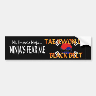 TKD Black BElt Bumper Sticker