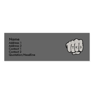 TKD Fist Profile Card Double-Sided Mini Business Cards (Pack Of 20)