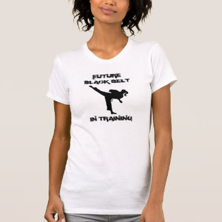 TKD GIRL FUTURE BLACK BELT WITH ATTITUDE T-Shirt