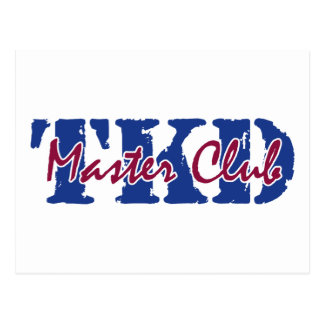 TKD - Master Club Postcard